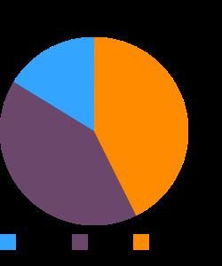 Vegetarian meatloaf or patties macronutrient pie chart